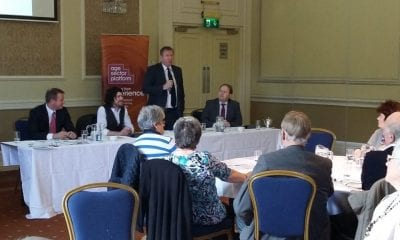 UUP councillor Doug Beattie addresses a Pensioners' Parliament at Armagh City Hotel