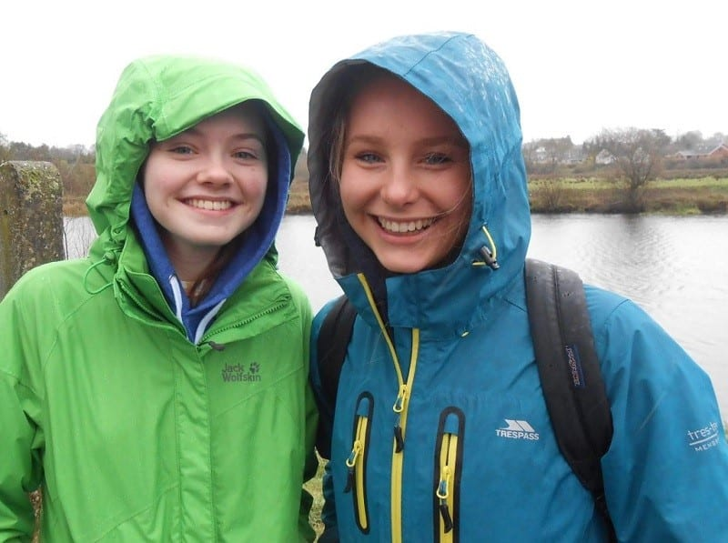 Abi Cairns(15) Right – Rebecca Jones(17) Left