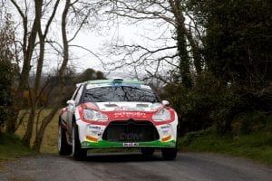 15 Greer Jonathan Riddick Kirsty Citroen DS3 Action during the 2015 European Rally Championship ERC Circuit of Ireland rally, from April 1st to 4th, at Belfast, Ireland. Photo François Flamand / DPPI