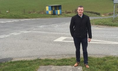 SDLP representative Justin McNulty at the Granemore crossroads outside Keady