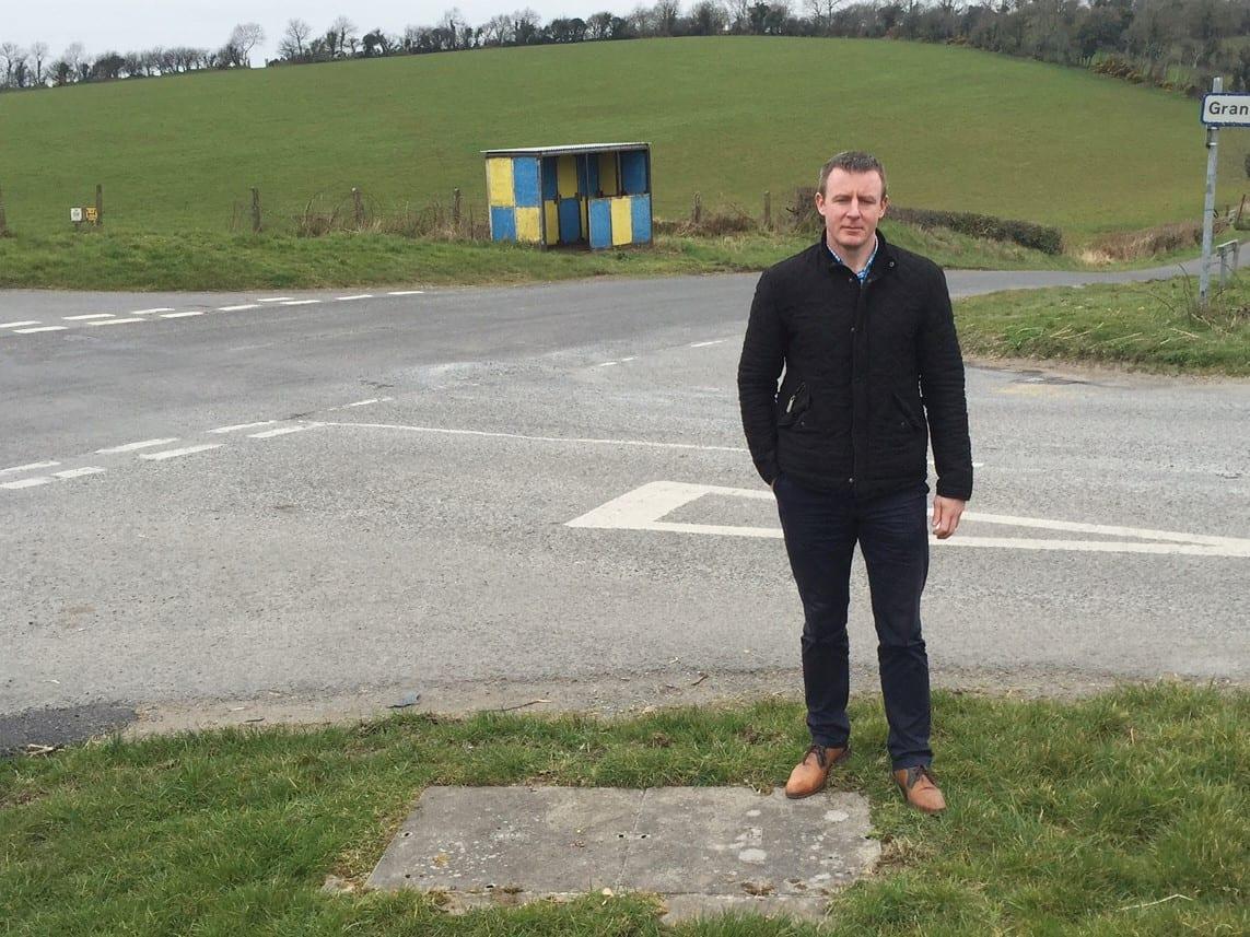 SDLP representative Justin McNulty at the Granemore crossroads outside Keady