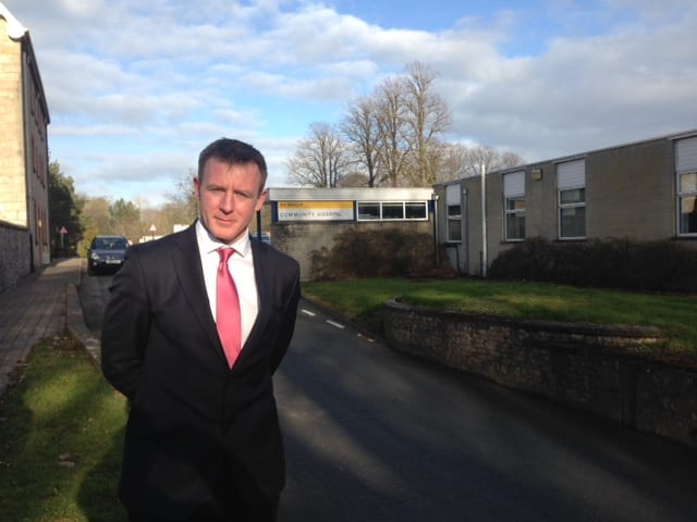Justin McNulty campaigning for a reversal on the decision to close Armagh's Minor Injuries Unit (MIU)