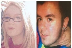 Chelsea McGarry, 17 and Daire McIlroy, 21