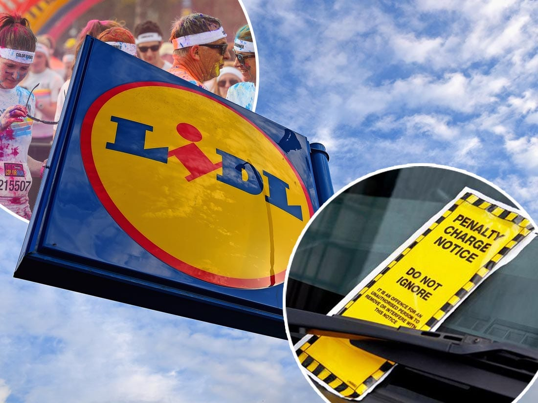Parking tickets were handed out during the Colour Dash in Lurgan recently
