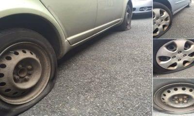 Johnny McGibbon had his car tyres slashed in Lurgan