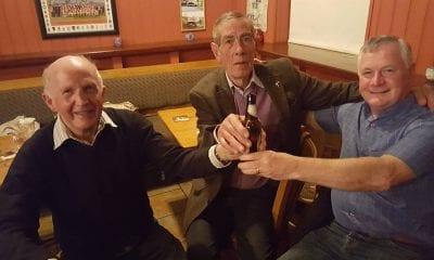 Brendan Clarke, Tom McParland and Peter McParland in the Rock Bar, Granemore