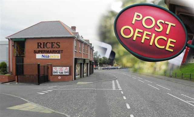 Keady Post Office will be moving to Rice's Supermarket