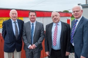 Blaise Treacy, judge, Cllr Glenn Barr, Joe Garvey, chair Richmount Rural Community Association and Eddie Sheehy, judge IPB Pride of Place Awards Richmount Community Centre Portadown 9 September 2016 CREDIT: LiamMcArdle.com