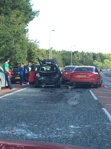 RTC outside Gosford Forest Park in Markethill