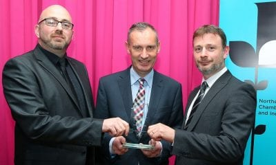 Anton Grimes (McElmeel Mobility Services); Nick Coburn (NI Chamber) and Conor McElmeel (McElmeel Mobility Services)