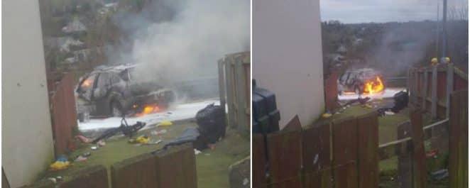 Car fire Mullacreevie Park