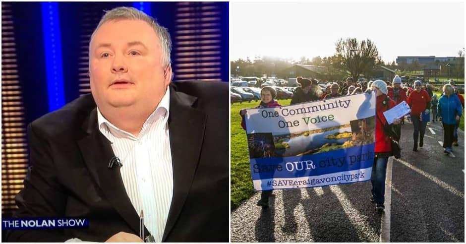Craigavon City Park protest