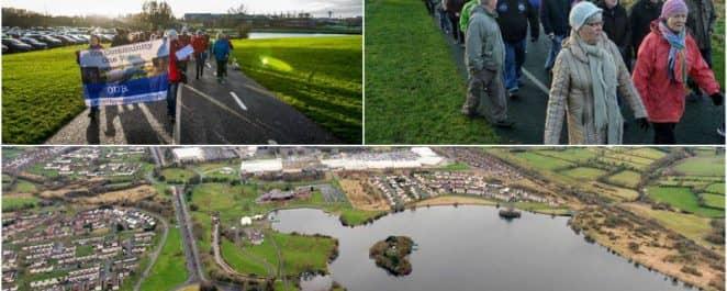Craigavon lakes protest