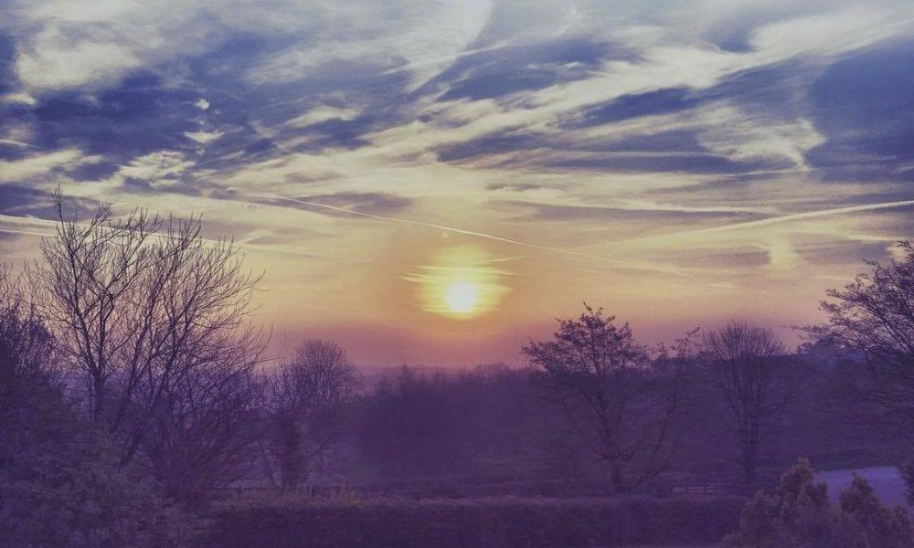 Sunrise at Redrock April 2017. Photo by Catherine Dougan