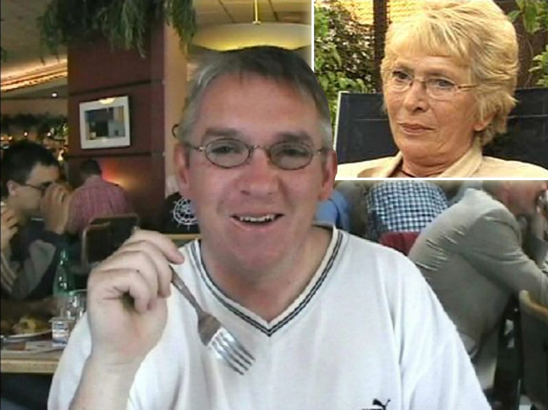 Shirley Crymble and murdered son Paul
