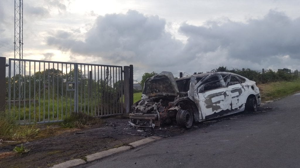 Car found burnt out on Dundrum Road in Tassagh