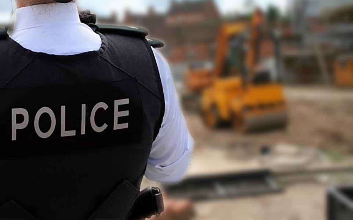 Police building site