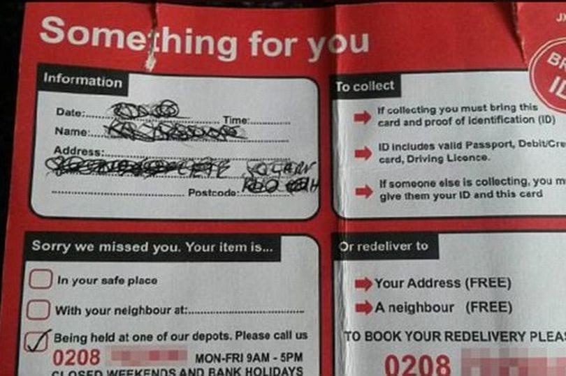 Fake Royal Mail delivery cards dropping through letter boxes — SCAM ALERT