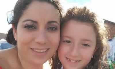 Eilish Telford with her eldest daughter