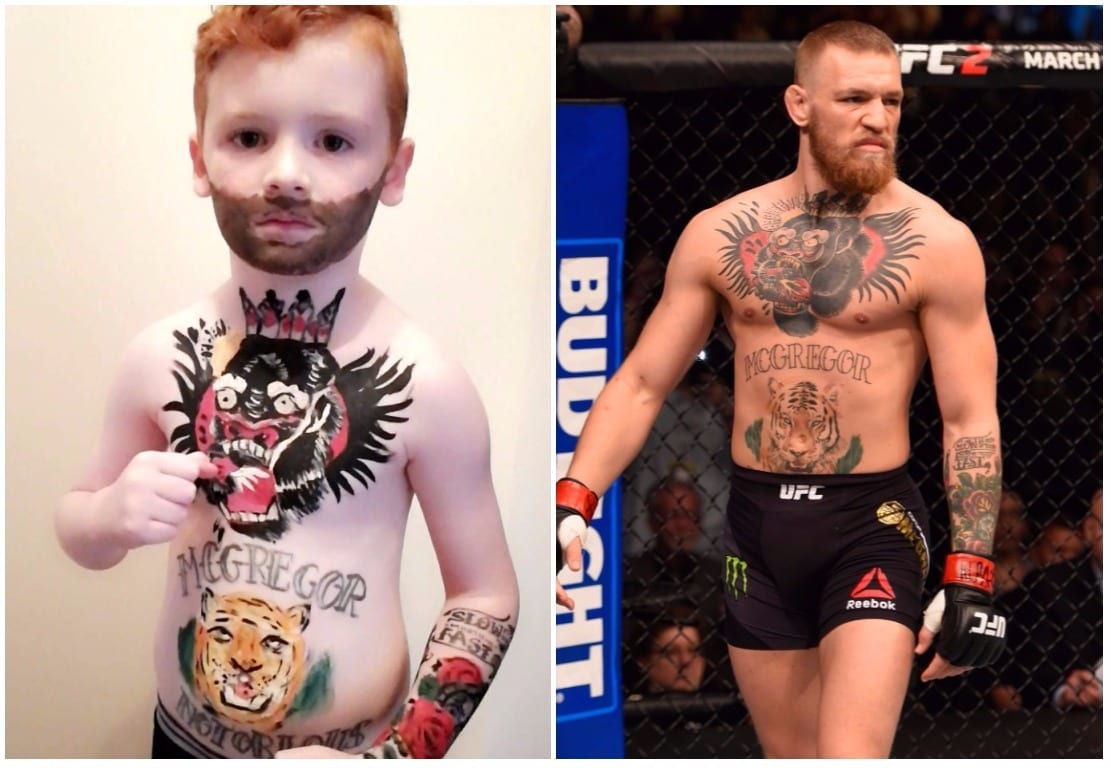 fancy dress labour of love transforms armagh schoolboy into mini mcgregor armagh i. Black Bedroom Furniture Sets. Home Design Ideas