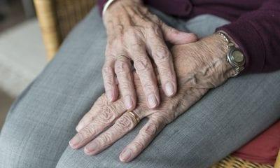 Pensioner old person care home