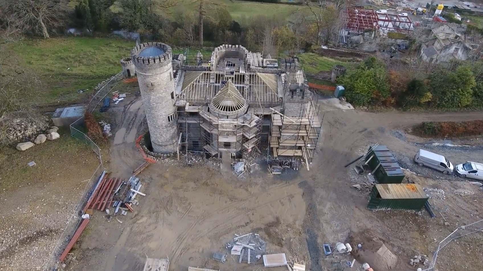 Killeavy Castle construction work
