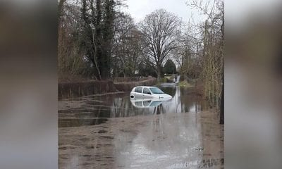 Car submerged Loughgall