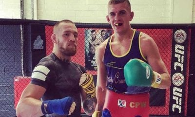 Conor Wallace with Conor McGregor