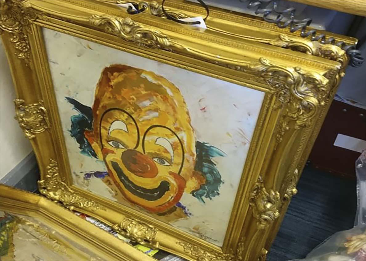 Creepy clown painting PSNI ARMAGH