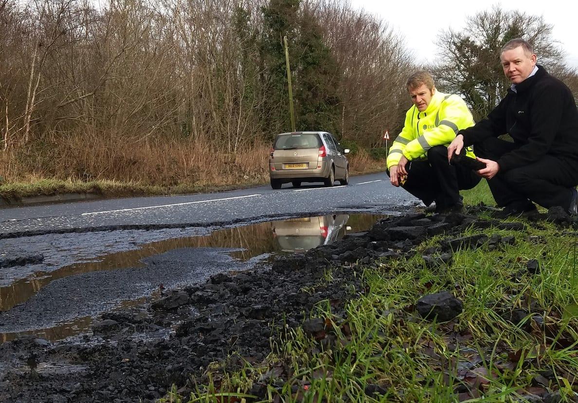 Mickey Larkin Roads potholes