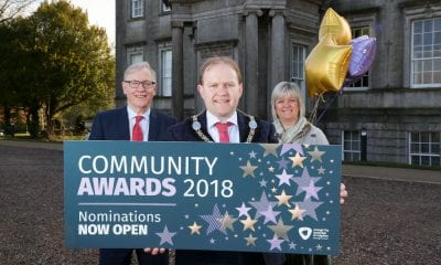 Lord Mayor Alderman Gareth Wilson is pictured at the launch of the Council's Community Awards with Mike Reardon (Strategic Director - People) and Diane Clarke (Head of Community Development – Acting Craigavon)