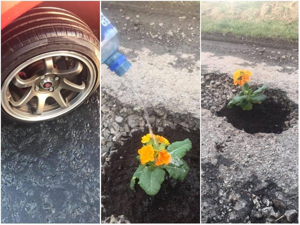 Pothole Camlough