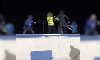 Crowd trouble Portadown FC Newry City