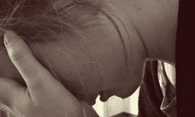 Stress upset woman sexual assault