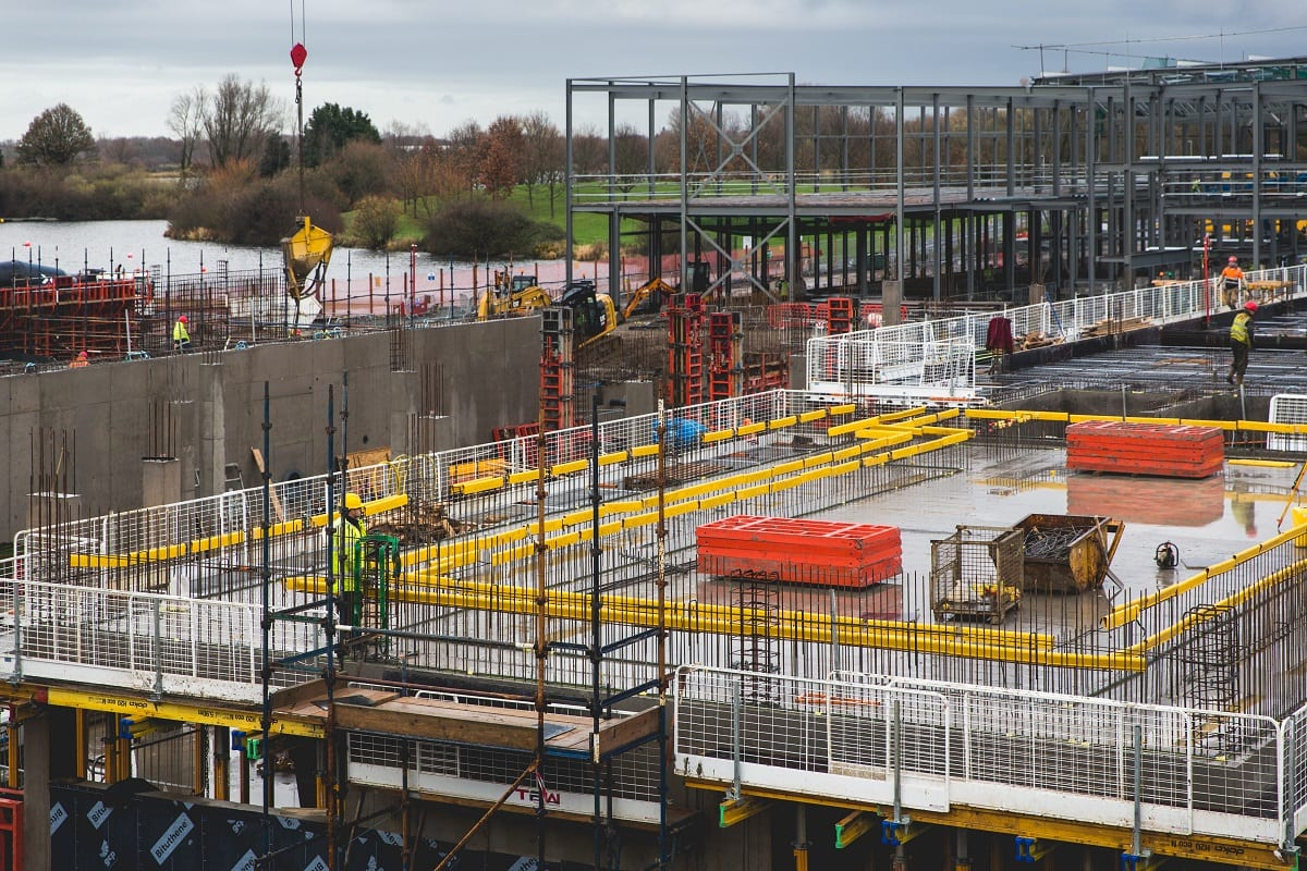 The building work ongoing at Craigavon leisure Centre