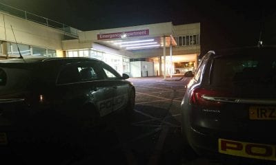 Police PSNI Emergency Craigavon Hospital