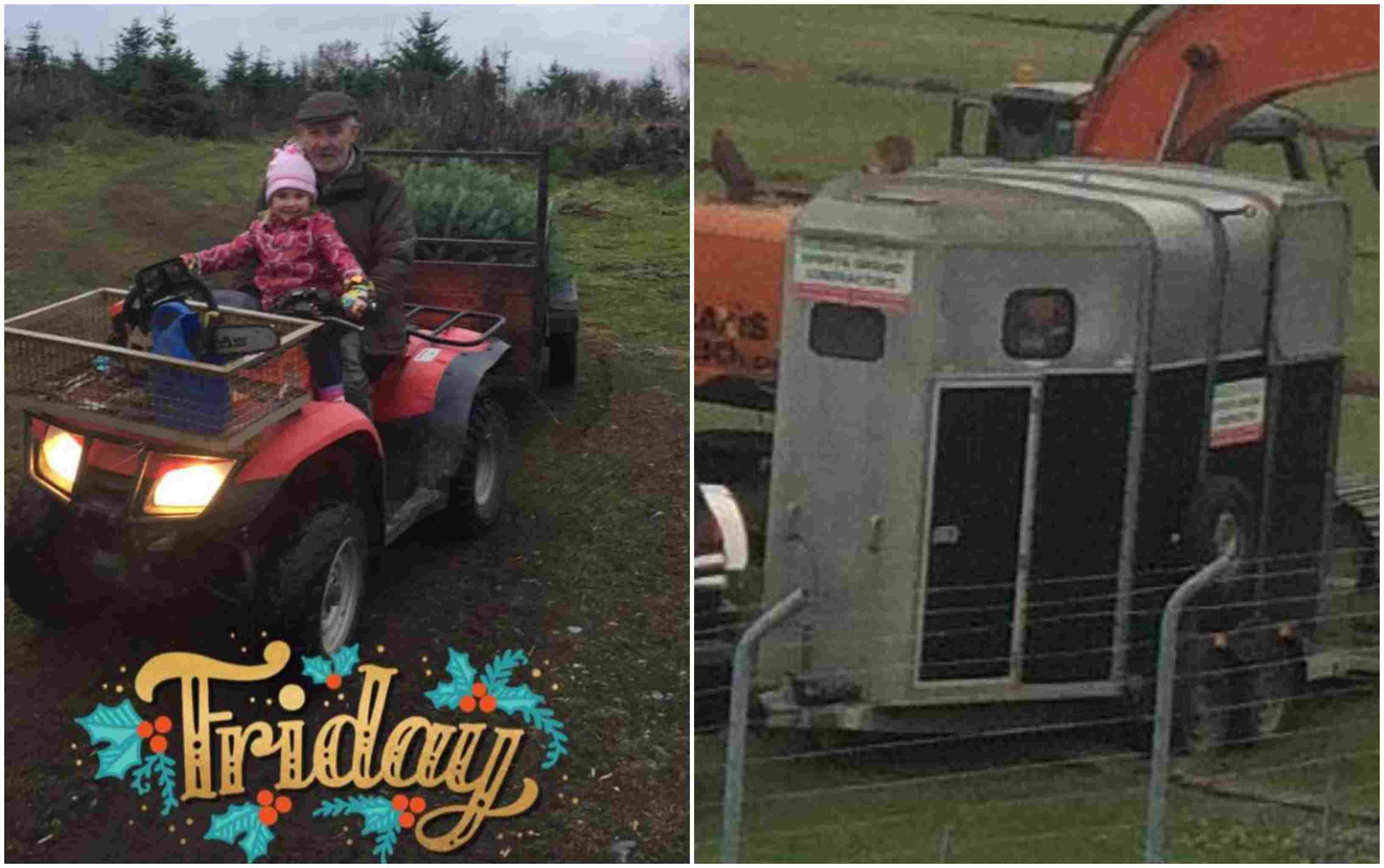 Stolen quad and horse box in Armagh