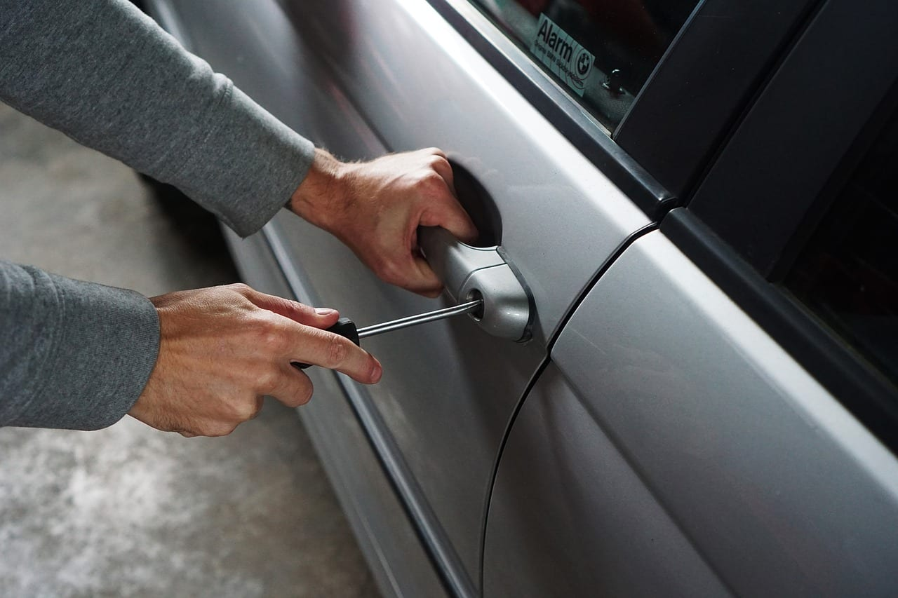 Car thief burglary