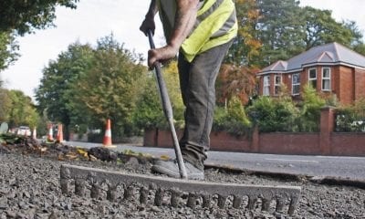 Resurfacing roadworks