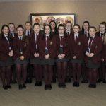International Women's Day event, Craigavon Civic Centre 5th March 2019., St Patrick's High School, Keady with Teacher Alannah Mone ©Edward Byrne Photography