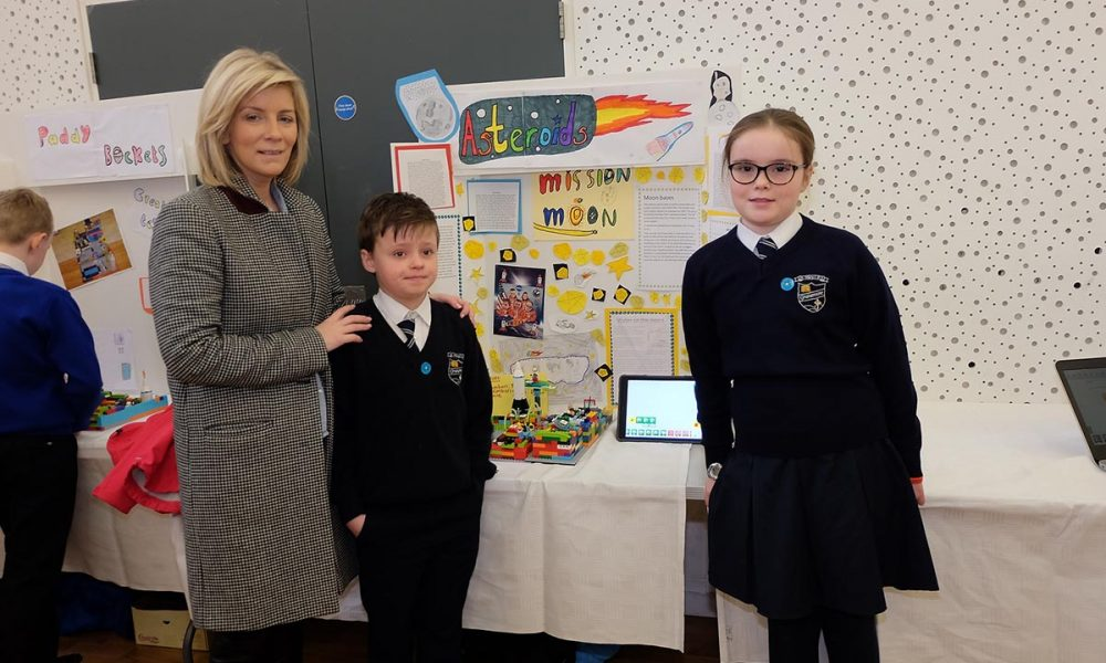 St Mary's Primary School Students The Lego Mindstorm project brings children and teachers from primary schools together for Lego Mindstorm Workshops and subsequently for Space Challenge Competitions and Exhibitions of Project work and Project Sharing ideas. Peace by PIECE Lego Mindstorm funded by Peace IV co-ordinated by CMETB Tommy Makem Centre Keady Co.Armagh 9 3 2019 CREDIT: LiamMcArdle.com