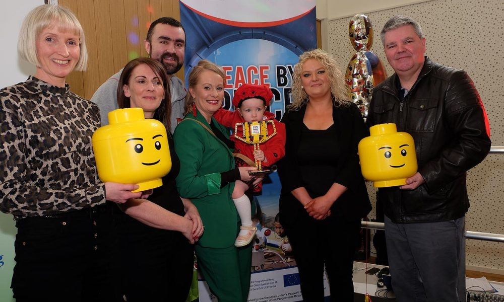 From left: Dr Linda Pinkster Director FET CMETB; Deirdre O'Callaghan AO CMETB; Ross Maguire Learn IT; Niamh Smyth TD; Laura Brady Project Co ordinator CMETB and Cathal Boylan MLA The Lego Mindstorm project brings children and teachers from primary schools together for Lego Mindstorm Workshops and subsequently for Space Challenge Competitions and Exhibitions of Project work and Project Sharing ideas. Peace by PIECE Lego Mindstorm funded by Peace IV co-ordinated by CMETB Tommy Makem Centre Keady Co.Armagh 9 3 2019 CREDIT: LiamMcArdle.com