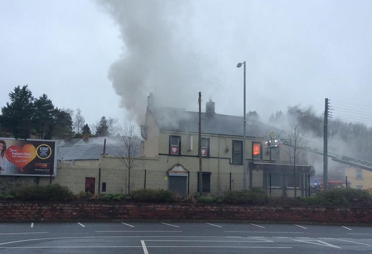 Northern bar fire Armagh