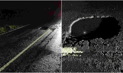 Pothole in Armagh