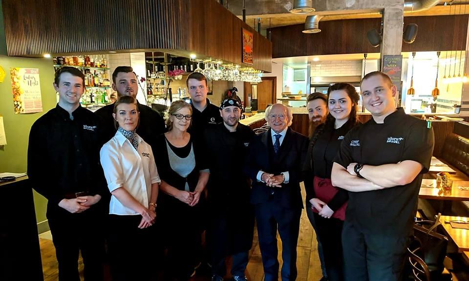 Irish President Michael D. Higgins in Uluru Armagh