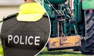 Police farm tractor