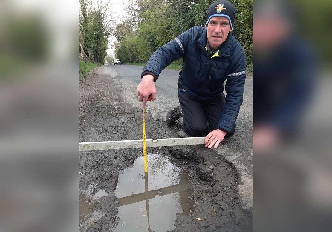 Terry Hearty Crossmaglen pothole