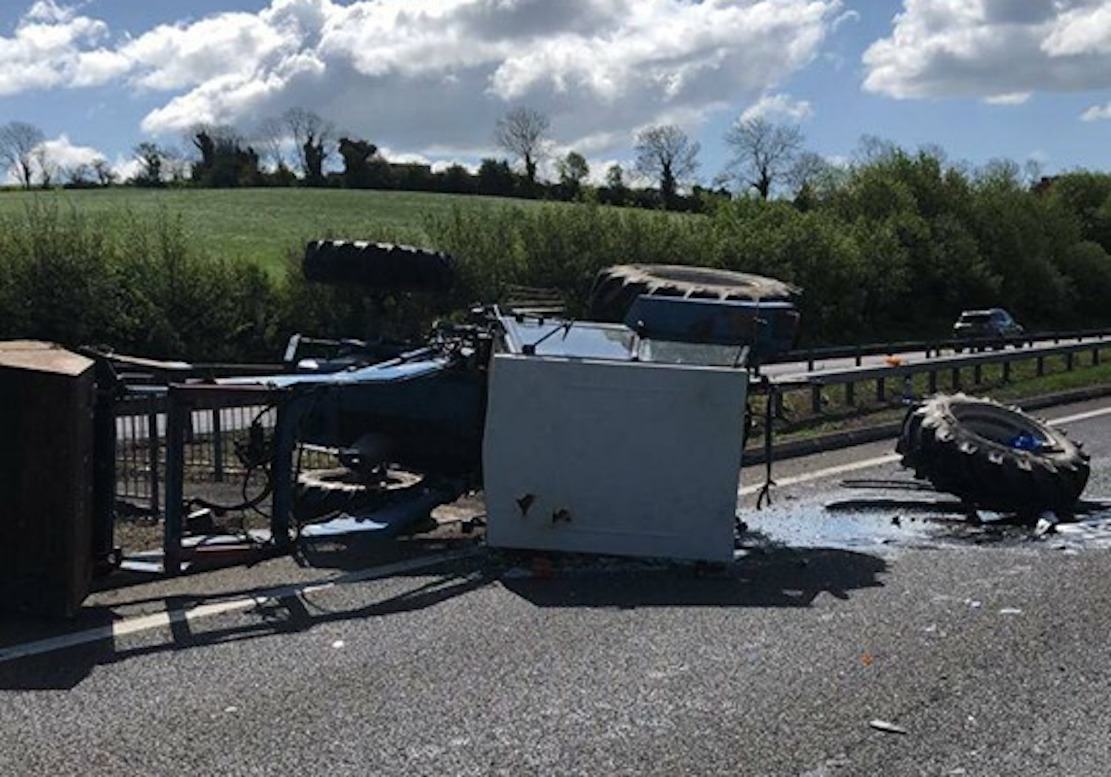 A1 tractor crash