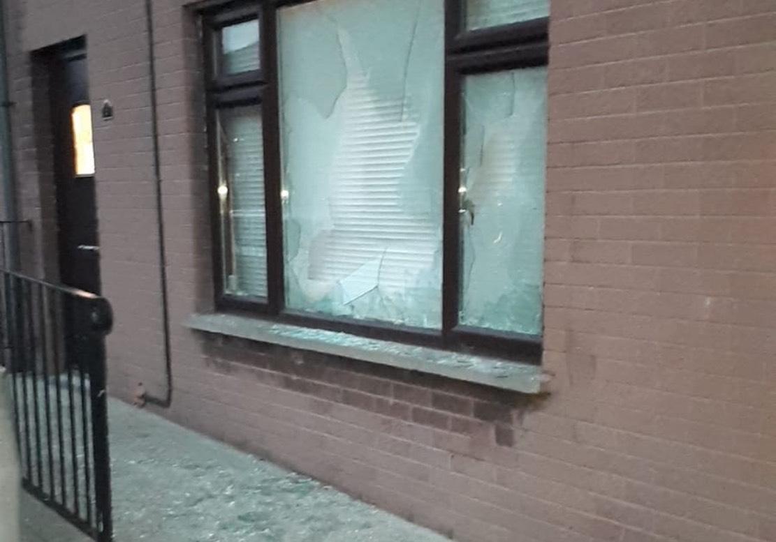 Newry window smashed