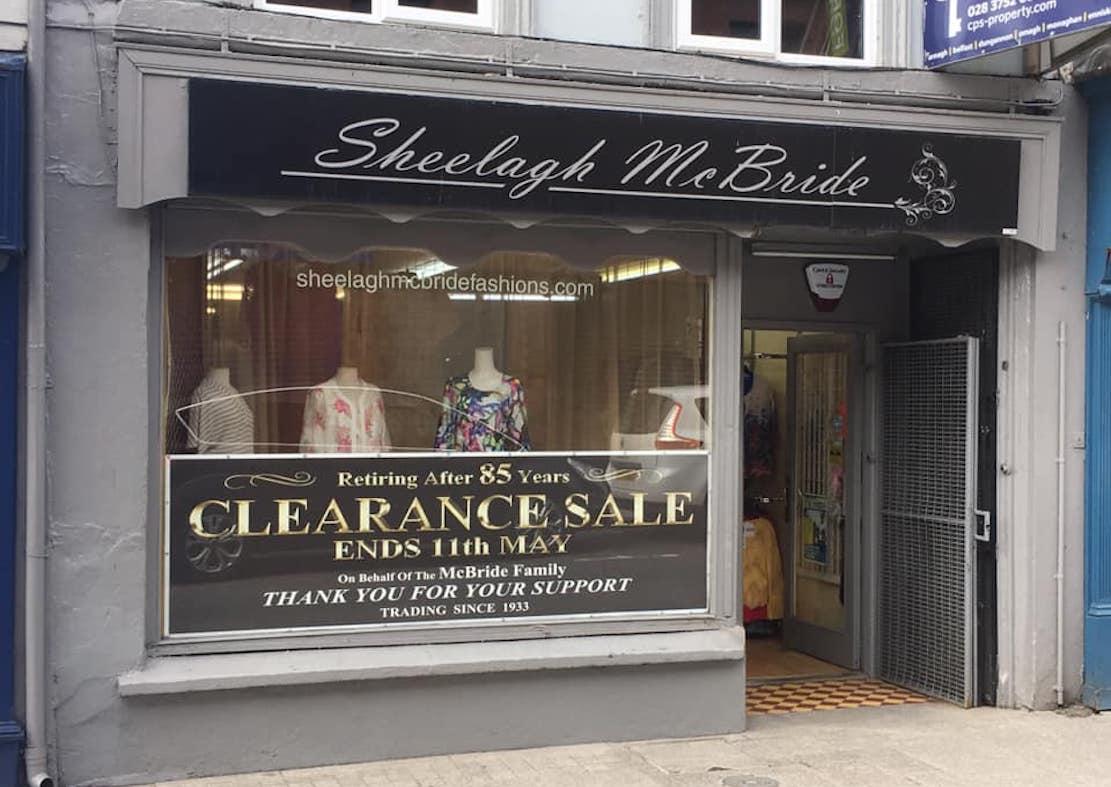 Sheelagh McBride boutique Armagh